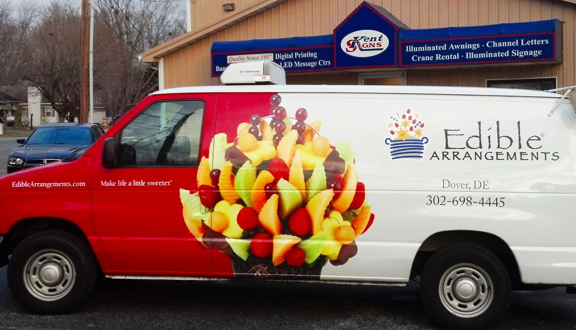 EDIBLE ARRANGEMENTS VEHICLE WRAP - KENT SIGNS